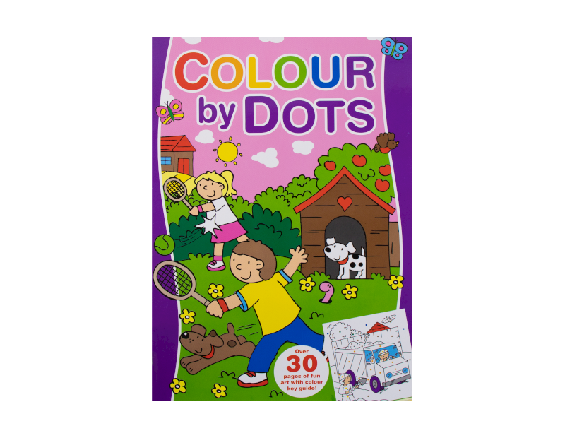 Colour By Dots Colouring Book