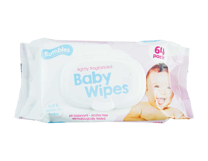 Fragranced Baby Wipes - 64 Pack