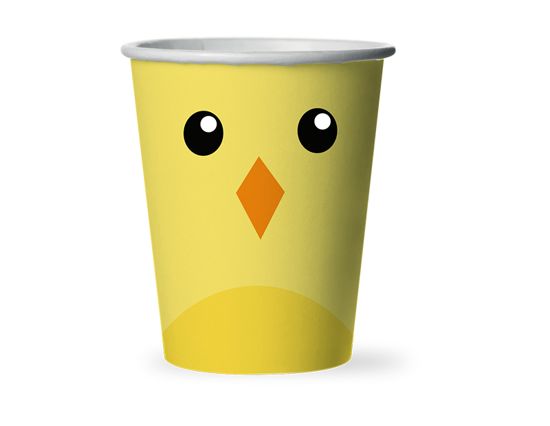 Easter Disposable Paper Cups - 12 Pack