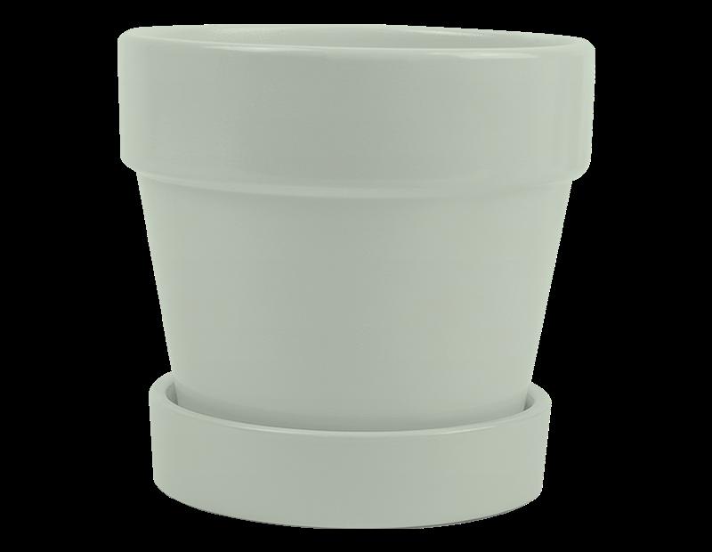 Ceramic Plant Pot & Saucer