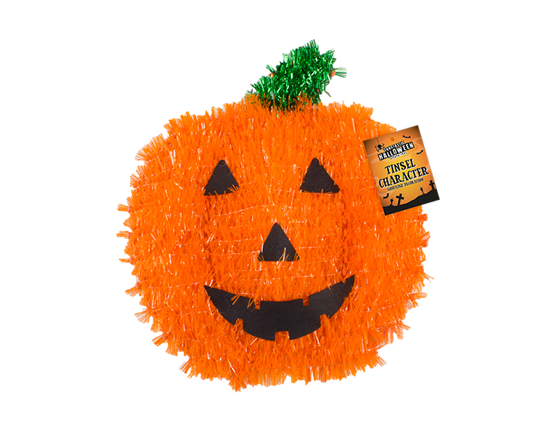 Halloween Tinsel Character Plaque