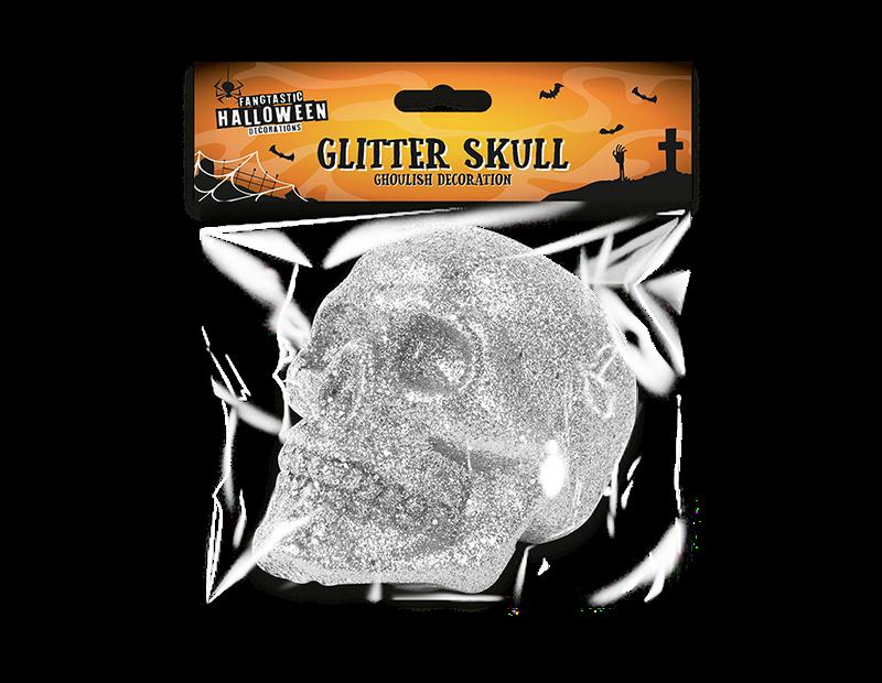 Halloween Glitter Skull
