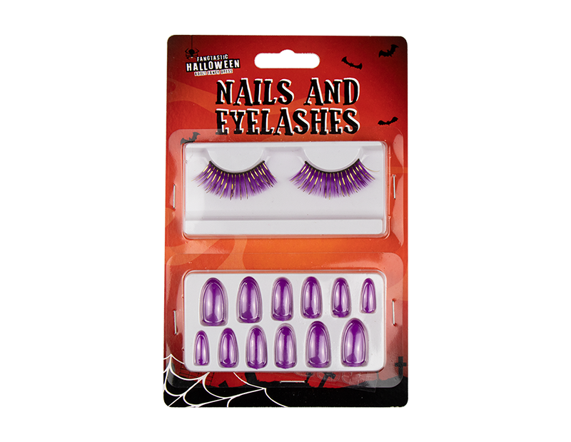 Halloween Bewitched Nails and Eyelashes