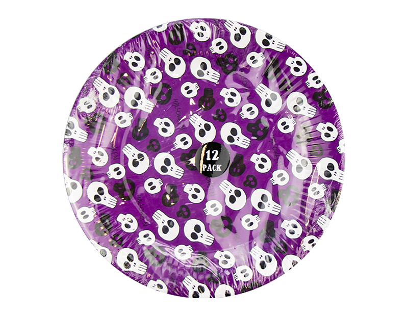 Halloween Paper Plates - 12 Pack (With PDQ)