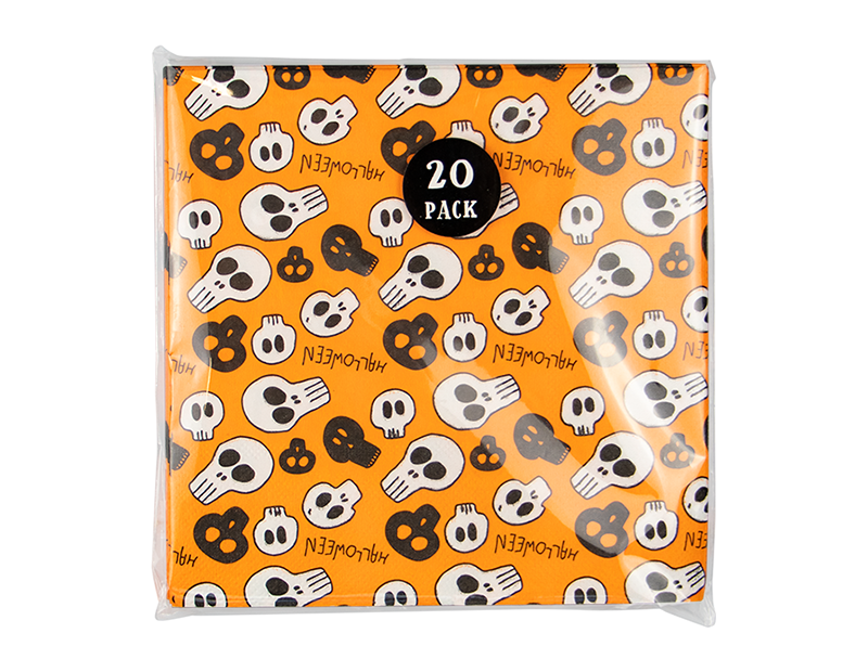 Halloween 3 Ply Napkins - 20 Pack (With PDQ)