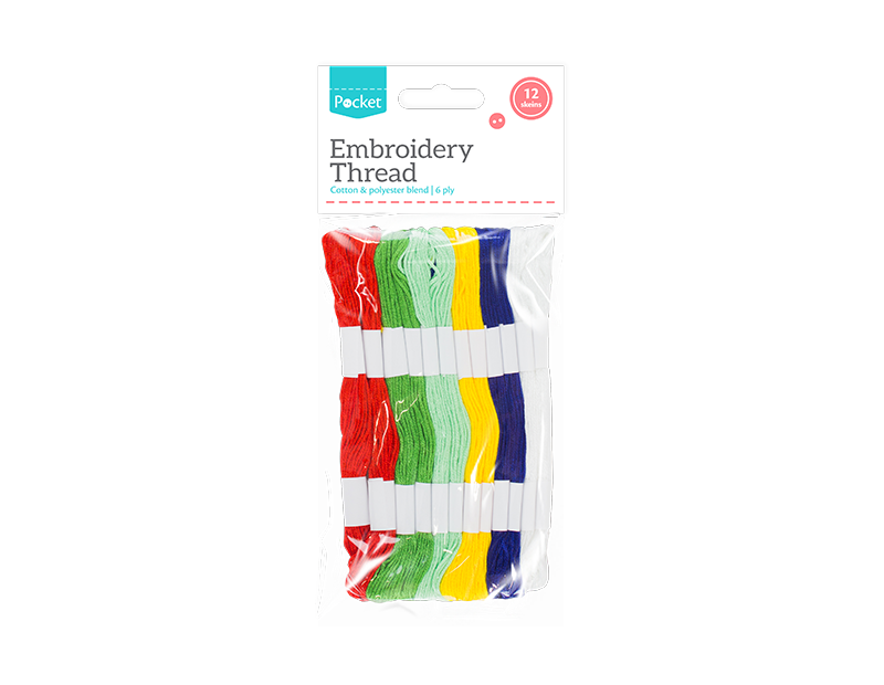 Embroidery Thread - 12 Skeins
