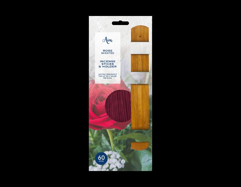 Incense Sticks & Holder - 60 Pack