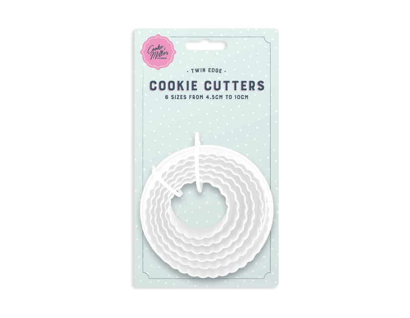 Twin Edge Cookie Cutters - 6 Pack