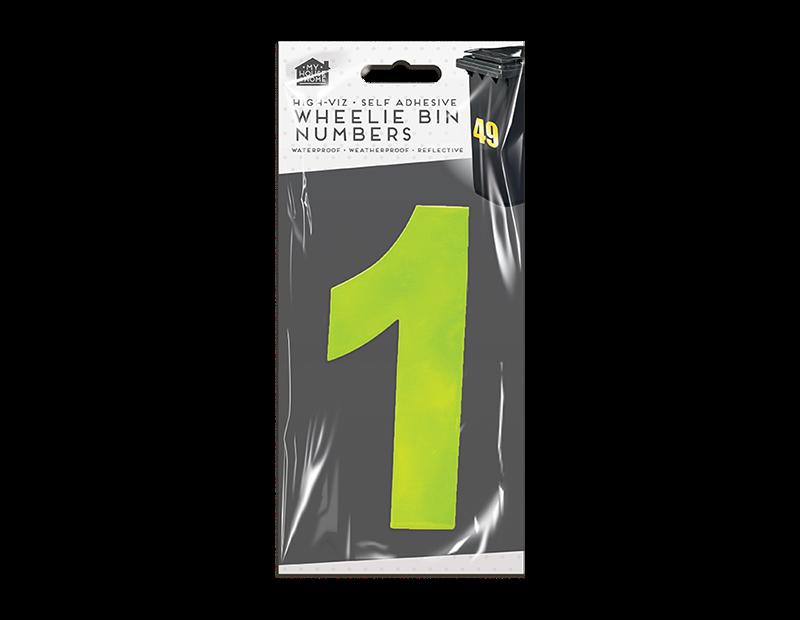 Wheelie Bin Number Stickers