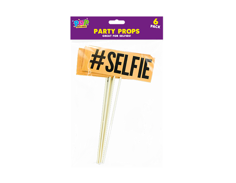 Selfie Photo Party Props - 6 Pack