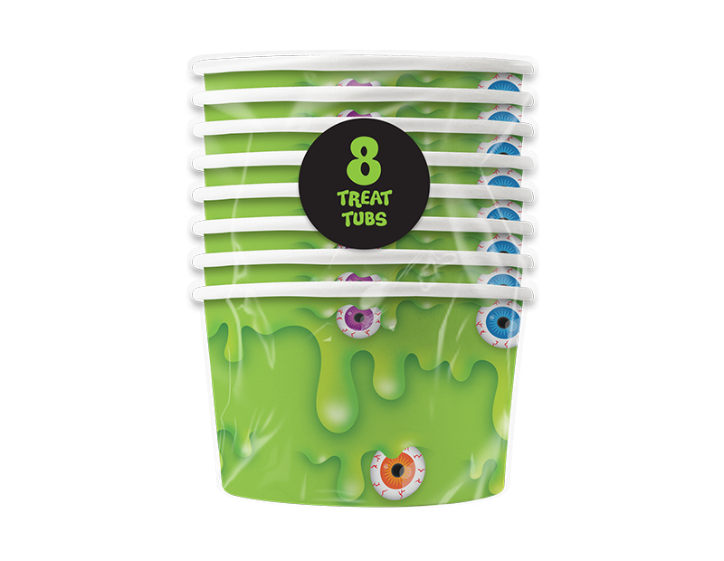 Slime Party Treat Tubs - 8 Pack