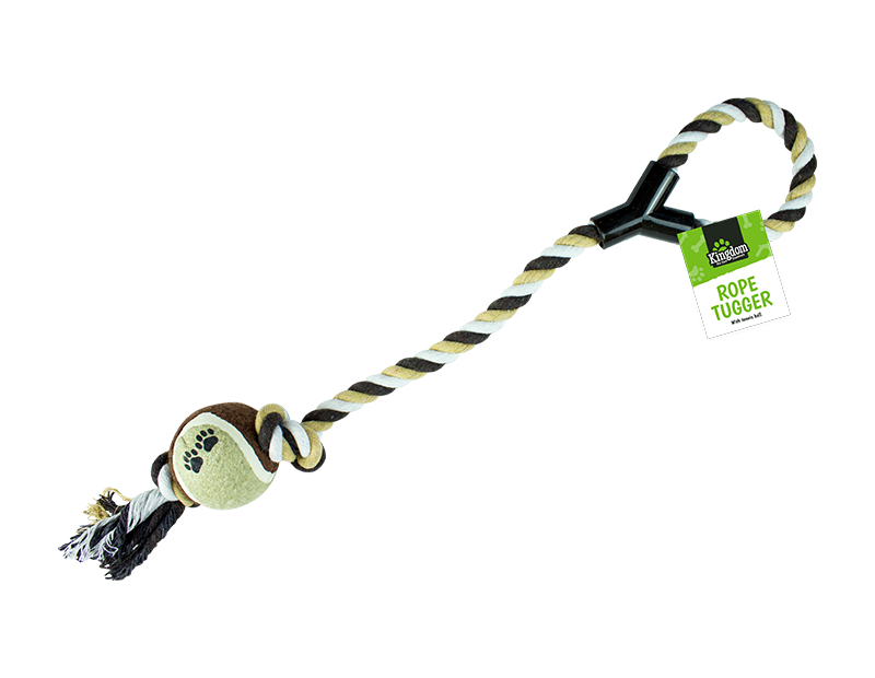Rope Dog Tugger Toy With Ball