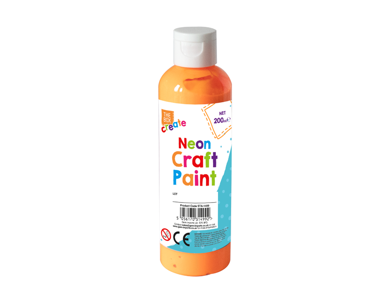 Neon Craft Paint - 200ml With PDQ