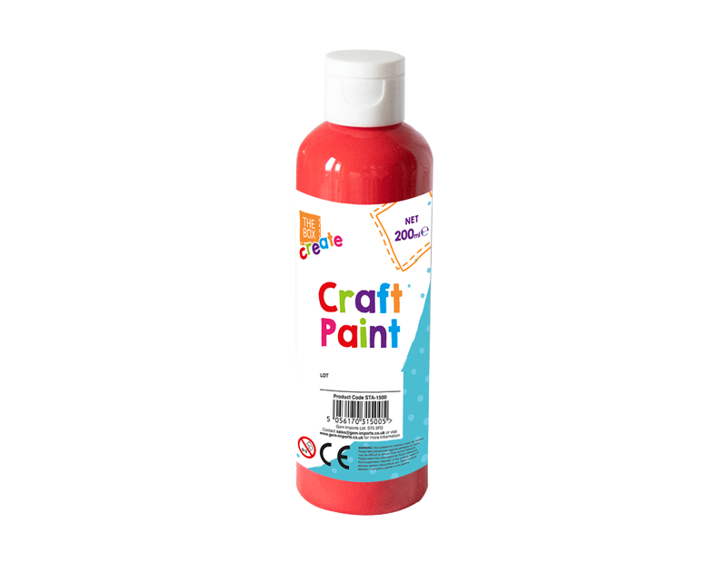 Craft Paint 200ml With PDQ