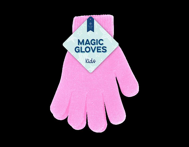 Kids Plain Magic Gloves