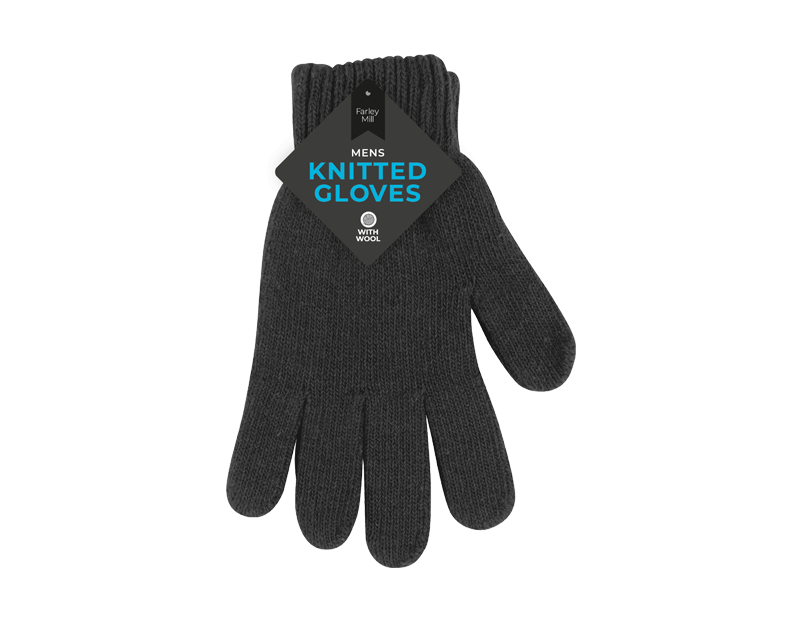 Mens Knitted Wool Gloves