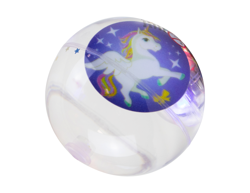 Glittered Unicorn Flashing Ball With PDQ