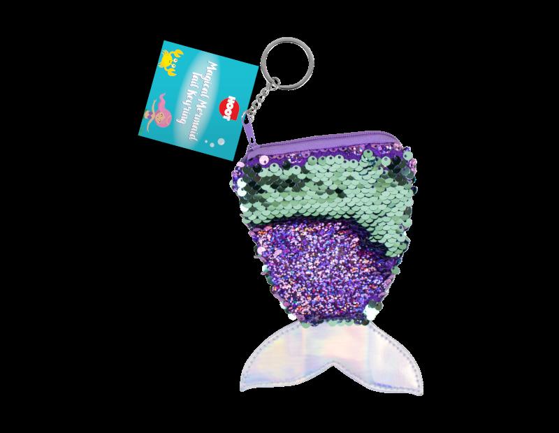 Mermaid Sequin Tail Purse & Keyring