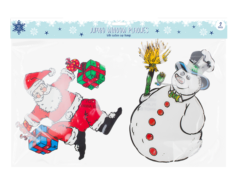 Christmas Large Window Plaques - 2 Pack