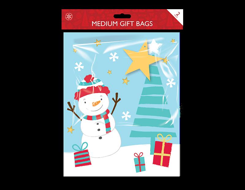 Christmas Cute Medium Gift Bags - 2 Pack