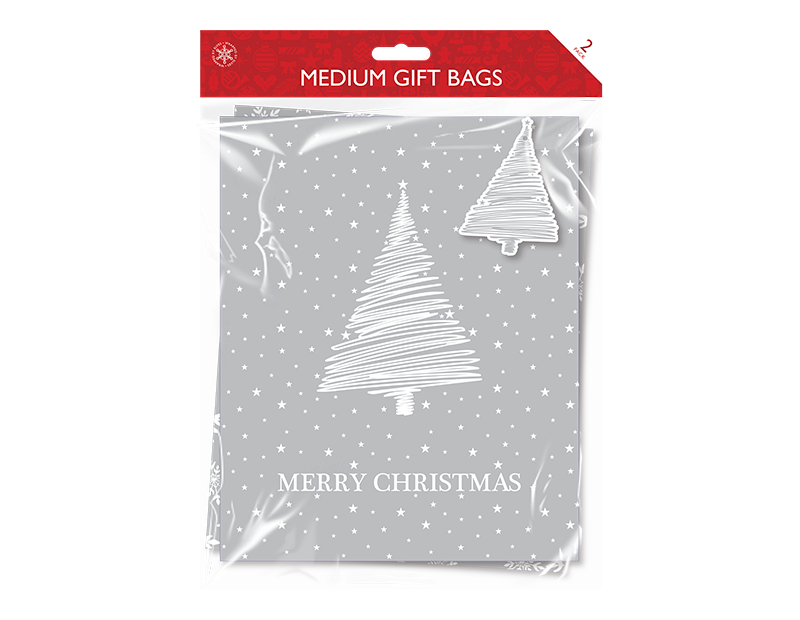 Christmas Traditional Medium Gift Bags - 2 Pack