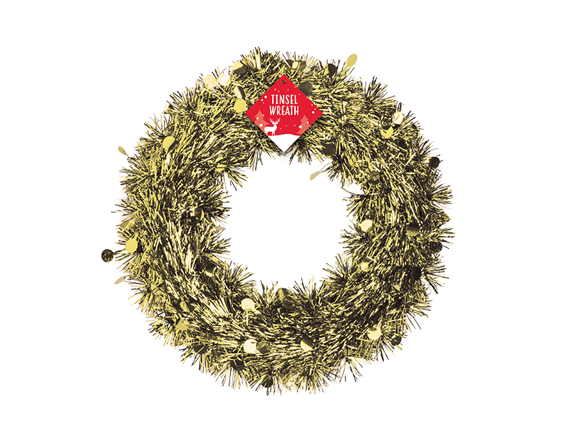 Christmas Tinsel Wreath 28cm