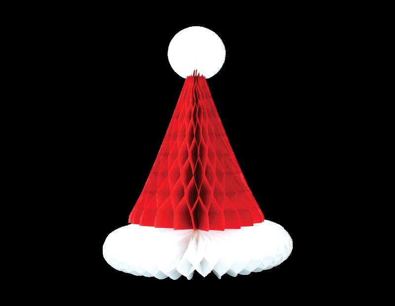 Christmas Honeycomb Santa Hat Decoration