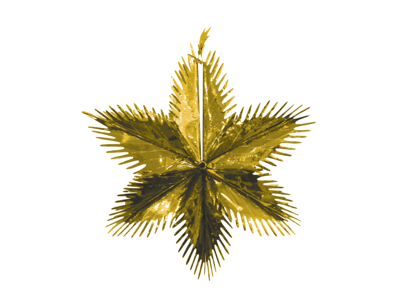 Christmas Metallic Foil Starburst 60cm