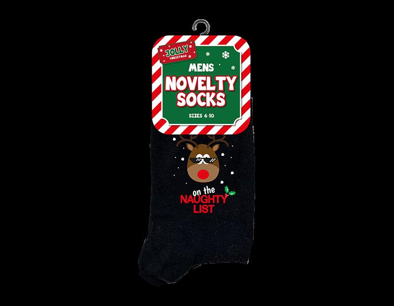 Mens Novelty Christmas Socks 6-10