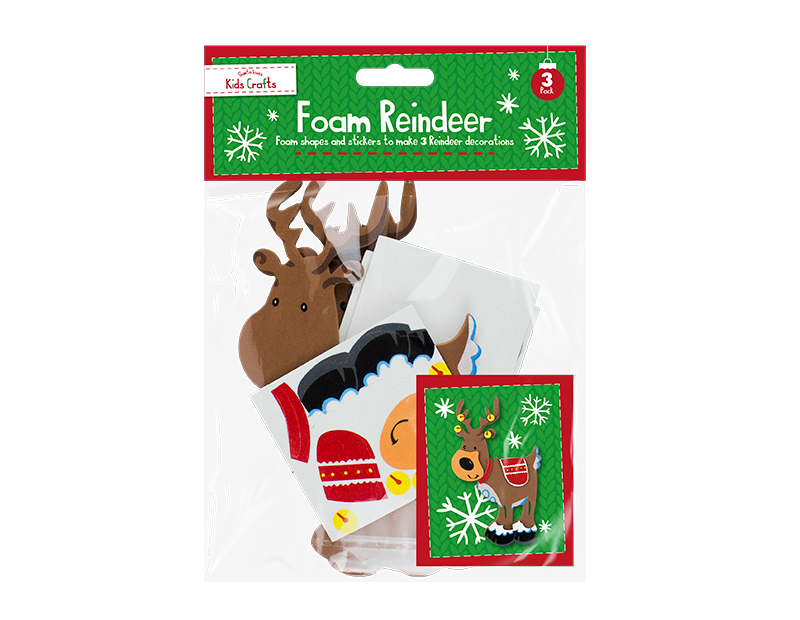 Christmas Foam Craft Character - 3 Pack