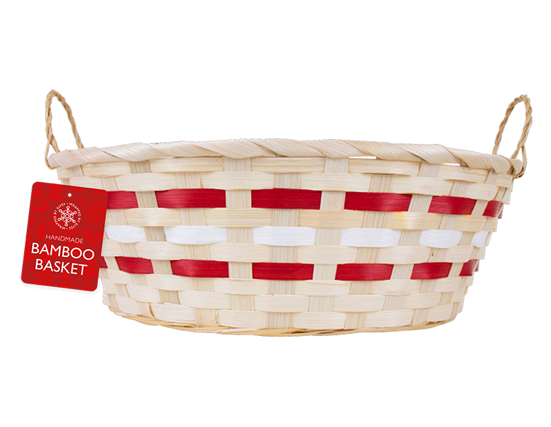 Oval Basket With Handles 33cm x 25.5cm x 11cm
