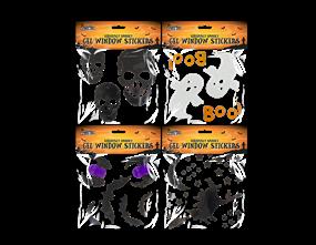 Assorted Halloween Gel Window Stickers