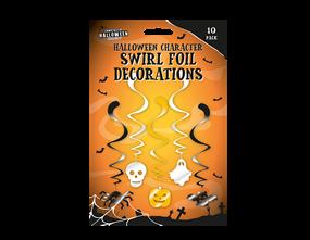 Halloween Foil Swirl Decoration