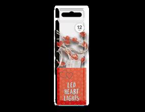 12 LED Heart Micro Lights
