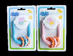 Wholesale Peppa Pig Rattle Teether   Gem Imports Ltd