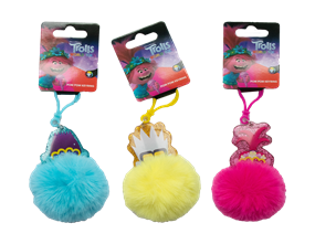 Wholesale Trolls Pom Pom Key Rings | Gem Imports Ltd