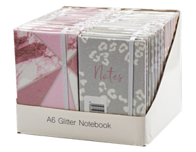 Wholesale A6 Glitter Film Notebooks | Gem Imports Ltd