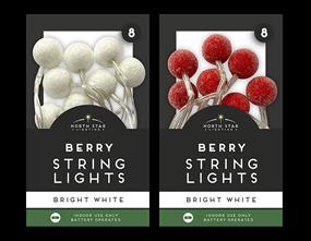 Wholesale Berrystring Lights - 8 Leds | Gem Imports Ltd