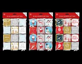 Wholesale Christmas 3D Self Adhesive Gift Tags | Gem Imports Ltd