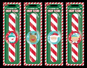 Wholesale Christmas Flashing Led Snap Band  | Gem Imports Ltd