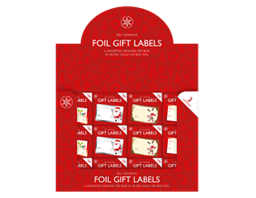 Wholesale Christmas Foil Gift Labels | Gem Imports Ltd