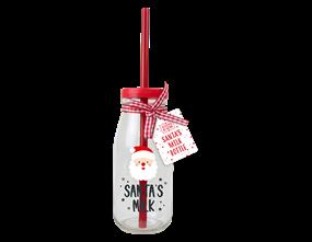 Wholesale Christmas Glass Milk Bottles | Gem Imports Ltd