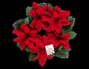 Wholesale Christmas Poinsettia Wreaths   Gem Imports Ltd