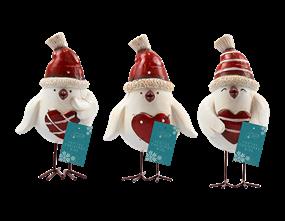 Wholesale Christmas Resin Bird Ornament | Gem Imports Ltd