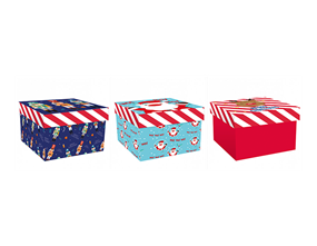 Wholesale Christmas Printed Square Gift Boxes   Gem Imports Ltd