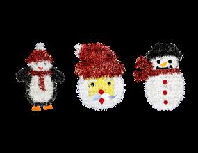 Wholesale Christmas Tinsel Wall Plaques | Gem Imports Ltd