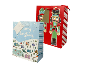 Wholesale Christmas Traditional Luxury Medium Gift Bags | Gem Imports Ltd