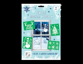 Christmas Window Stencils - 4 Pack