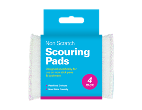 Pearl Non-scratch Scouring Pads - 4 Pack