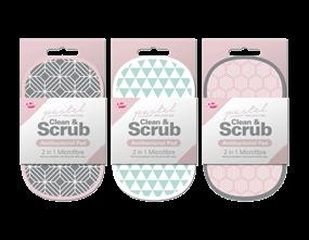Wholesale 2 in 1 Antibacterial Scrubbing Pad Pastel | Gem Imports Ltd